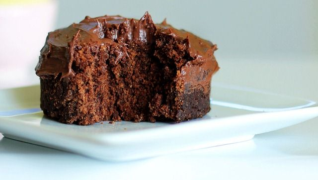 Vegan, Gluten-free one minute chocolate cake.
