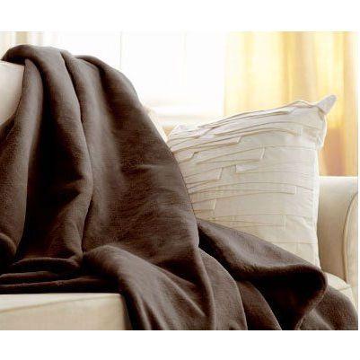 Walnut Brown Cuddle Microplush Heated Electric Warming Throw Blanket