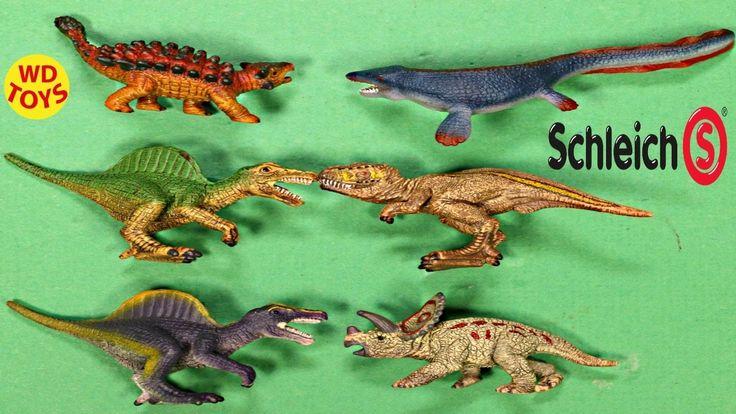 New Schleich Dinosaur Sets Spinosaurus Vs TREX Jurassic Park Unboxing 42...