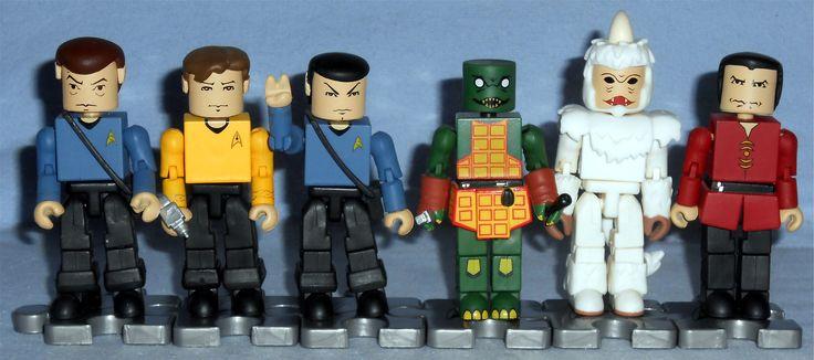 MiniMates - Star Trek 3 Inch Wave 1 Dr. McCoy, Captain Kirk, Mr. Spock, Gorn, Mugatu, and Khan