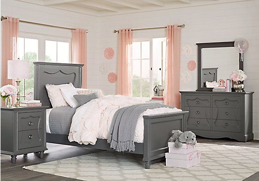 Picture Of Lyla Charcoal 5 Pc Full Panel Bedroom From Teen Bedroom Sets  Furniture