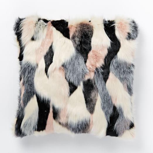 faux fur foxy pillow cover west elm pillow talk. Black Bedroom Furniture Sets. Home Design Ideas