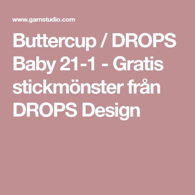 Buttercup / DROPS Baby 21-1 - Gratis stickmönster från DROPS Design