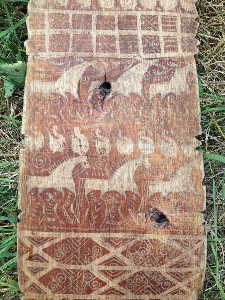 ... и олени :) мезенская роспись