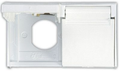 JR Products 433PW-A Polar White Thumb Lock for Large Electric Cable Hatch