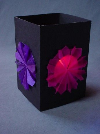 origami lampion anleitung - Google Search