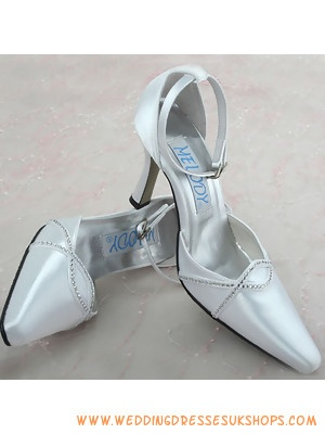 Ivory 35 Pointed Toe Ankle Strap Bridal Shoe Online
