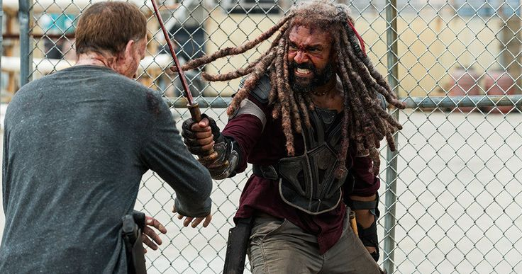 The Walking Dead Episode 8.4 Recap: The Fall of King Ezekiel -- King Ezekiel is knocked off his throne as Carol fights the Saviors for their guns in a thrilling and ultimately heartbreaking episode of The Walking Dead. -- http://tvweb.com/the-walking-dead-season-8-episode-4-recap/