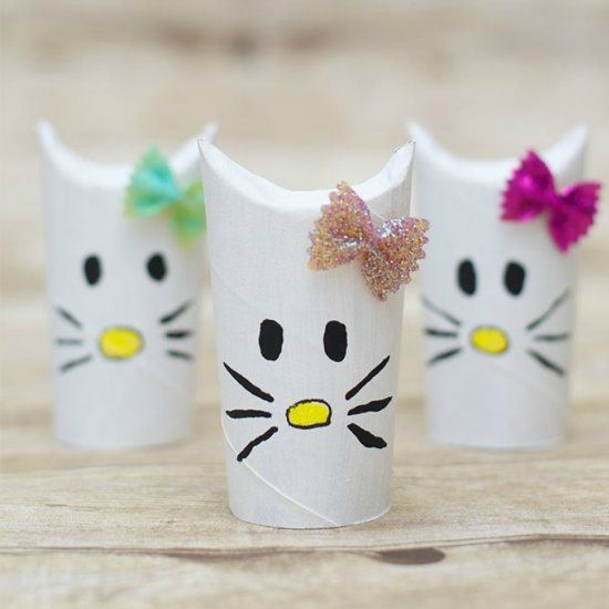 Create your own hello kitty craft using toilet paper rolls for Design your own toilet paper