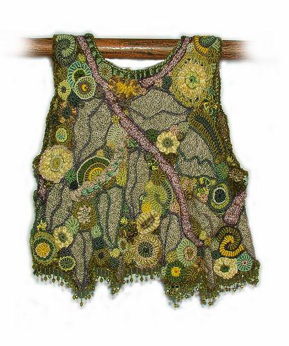 OOAK freeform crochet vest - Crystal Grove - back view   Flickr - Photo Sharing!