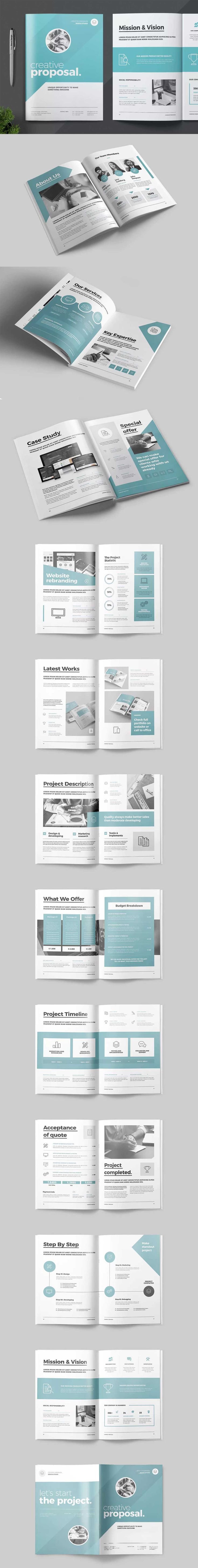 construction proposal templates%0A Proposal Template InDesign INDD A  and Us Letter Size