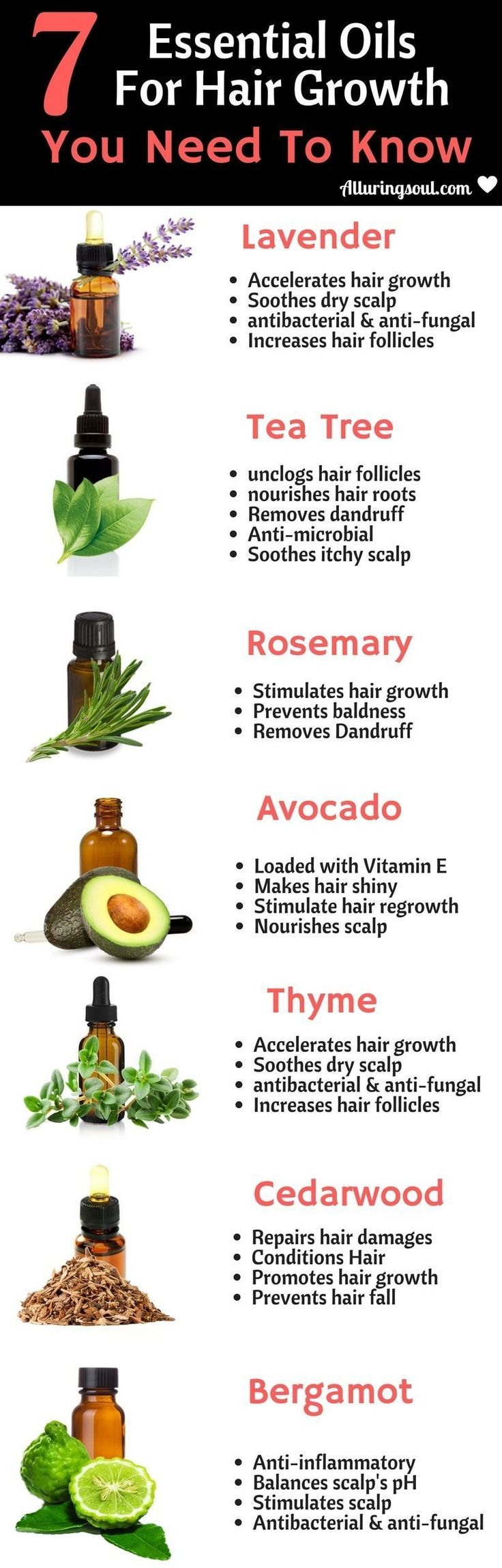 Apply these essential oils for hair growth, prevent hair fall and get shiny and long hair. #haircareoil,