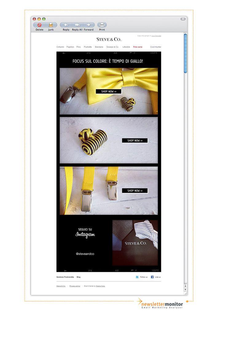 Brand: Steve & Co. | Subject: E' tempo di giallo! Scopri i nuovi prodotti...