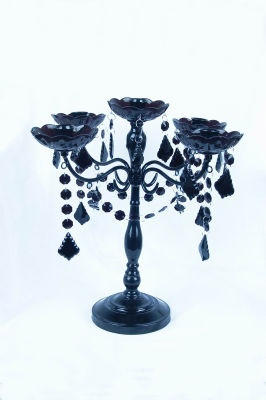 Love this for so many projects!: Centerpieces Ideas, Autumn Ideas, Candles Holders, Tables Centerpieces, Halloween Candelabra, Holidays Decor, Jewels Candelabra, Black Candelabra, Michael Crafts