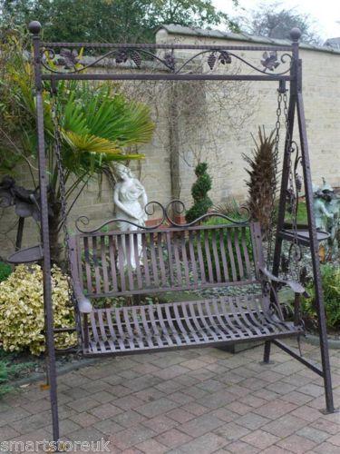 Want Metal Victorian Design Swinging Hammock Garden