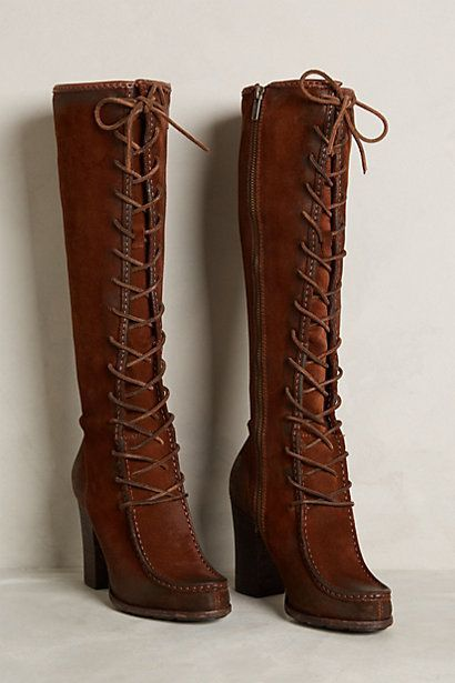 Frye Park Moc Tall Boots anthropologie.com #anthrofave