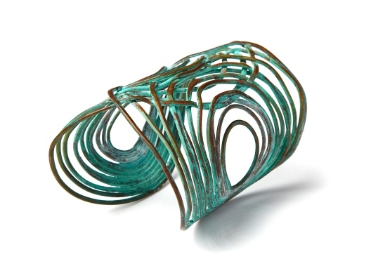 "Turquoise ""Rita"" Cuff by Sibilia from Veronica Webb on OpenSky"