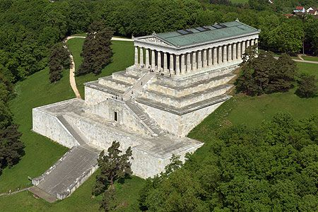 Walhalla. Imposant Building in Bavaria