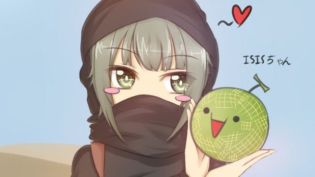 Meet ISIS-chan. She's how nerds around the world are trying to silence violent ISIS terrorist propaganda.