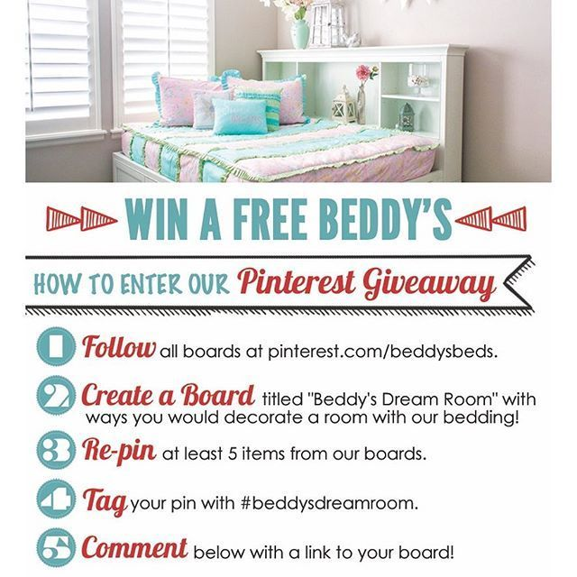 Win a Free Beddy's!! (See the instructions above) Winner chosen on July 11, 2016! #beddysdreamroom