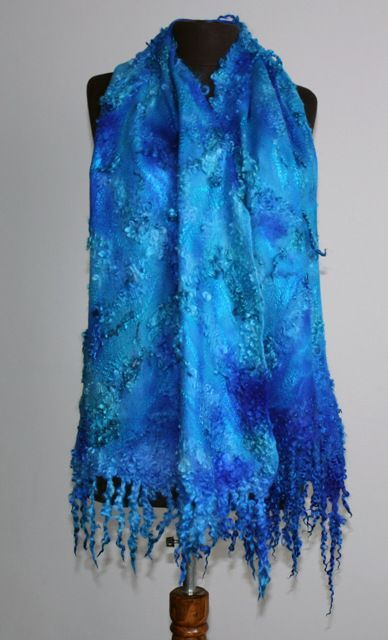 Bildergebnis für beautiful nuno felted shawls