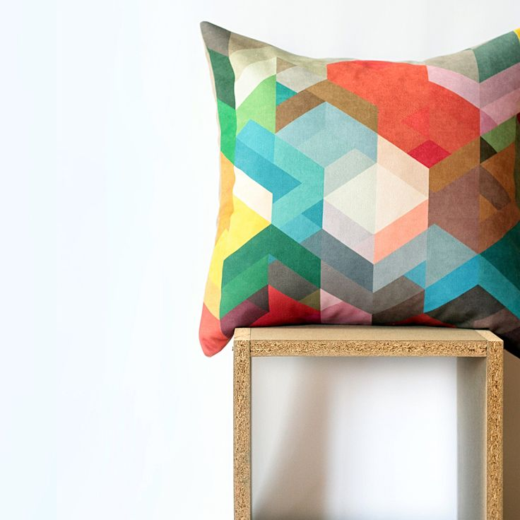 Dark Geometric Cushion - Nirwa - Linoluna Store Indonesia