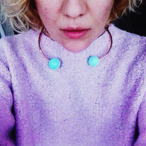 Baby blue and lilac mix