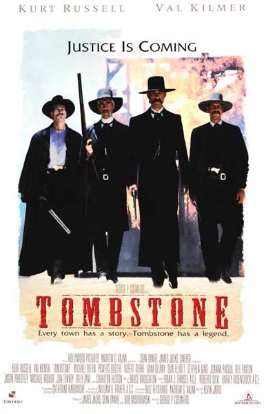 A great Tombstone movie poster! Kurt Russell, Val Kilmer, Sam Elliott, and Bill…