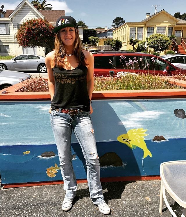 """""""Join the Renegade"""" rockin the Hirie outfit to see her play tonight!! Day 2 Cali Roots #hirie #hiriemusic @hiriemusic @calirootsfest #caligirl #caliroots #cali #california #californialove #californiadreaming #caligirl #monterey #montereybay #montereycountyfairgrounds @montereycountyfair #montereybaylocals - posted by Nicole Adams https://www.instagram.com/nikki_fitness23 - See more of Monterey Bay at http://montereybaylocals.com"""