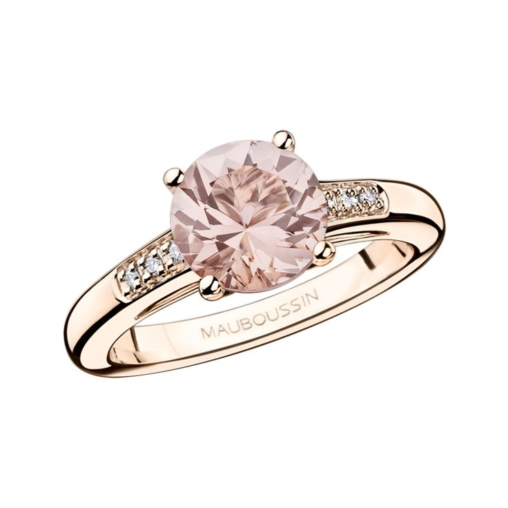 Mauboussin / Bague (fiançailles) Un grand mot de tendresse en Morganite / 897€ au lieu de 1495€