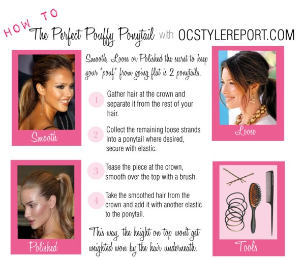 """""""The Perfect Pouffy Ponytail"""" by ocstylereport on Polyvore"""