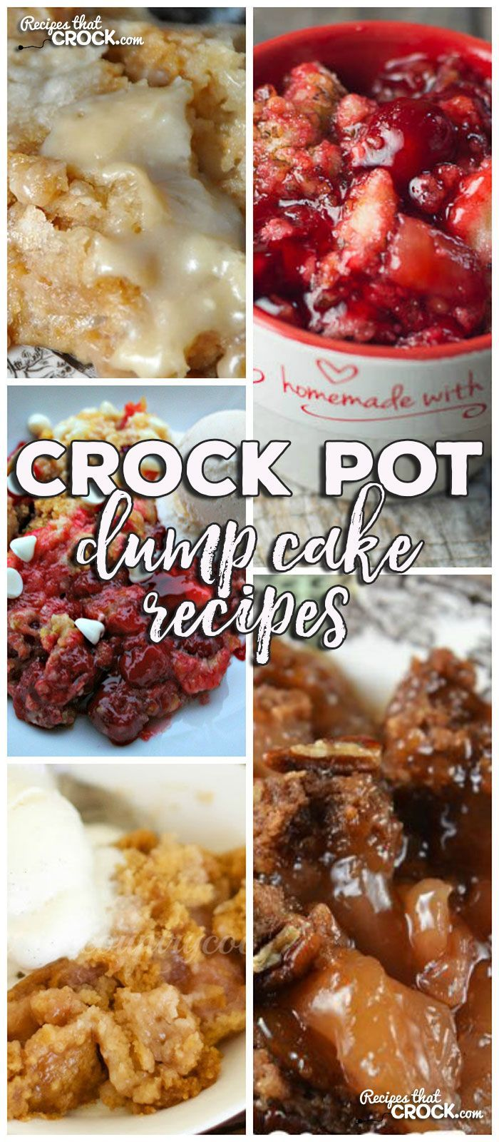 This week for our Friday Favorites we have Crock Pot Dump Cake Recipes we have Crock Pot Apple Spice Dump Cake, Crock Pot Peaches 'n Cream Dump Cake, Crock Pot Cherry Pineapple Dump Cake, Crock Pot Apple Dump Cake and Crock Pot White Chocolate Cherry Dump Cake!