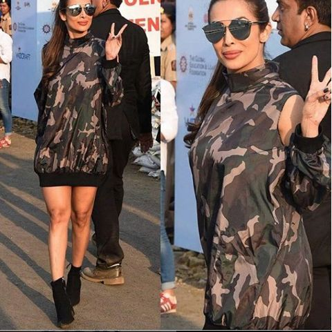 Uh-huh!! she's looking hot 😍 @malaikaarorakhan rocking at #globalcitizenfestival #style #photooftheday #instapic #glasses #blackshoes #hoodie.