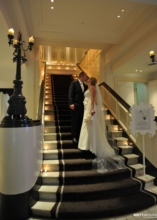 Stairs to reception