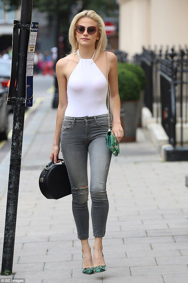 Sleek: Singer-actress Pixie Lott shows off her slim figure in a skintight…
