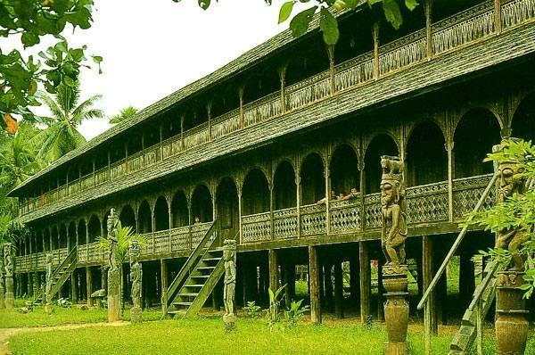 Dayak Longhouse of Borneo