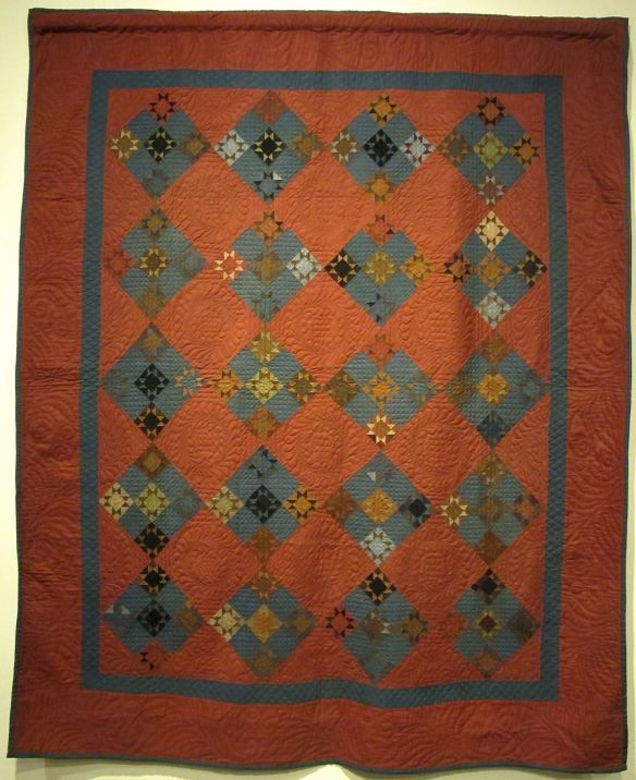Ohio Amish Quilt, Twinkle Stars, dated 1895. Dena Miller, Holmes County:
