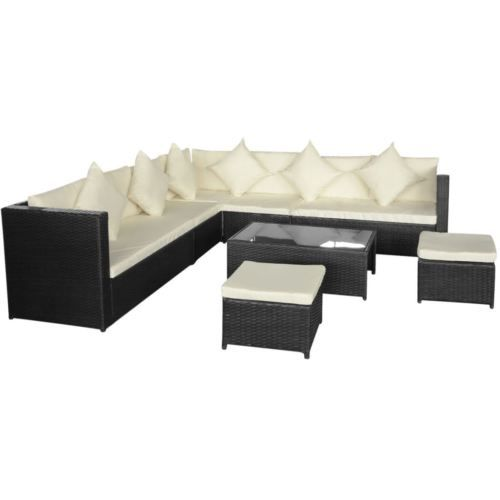 Outdoor-8PC-Rattan-Furniture-Sectional-Wicker-Patio-Garden-Sofa-Set-Couch-Black