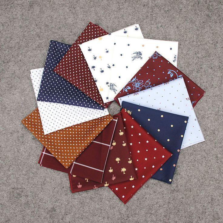 >> Click to Buy << 15 Colors Cotton Print Pocket Square Men's Wedding Tuxedo Suit Handkerchief Women Evening Dress Small Chest Towel Hankies #Affiliate