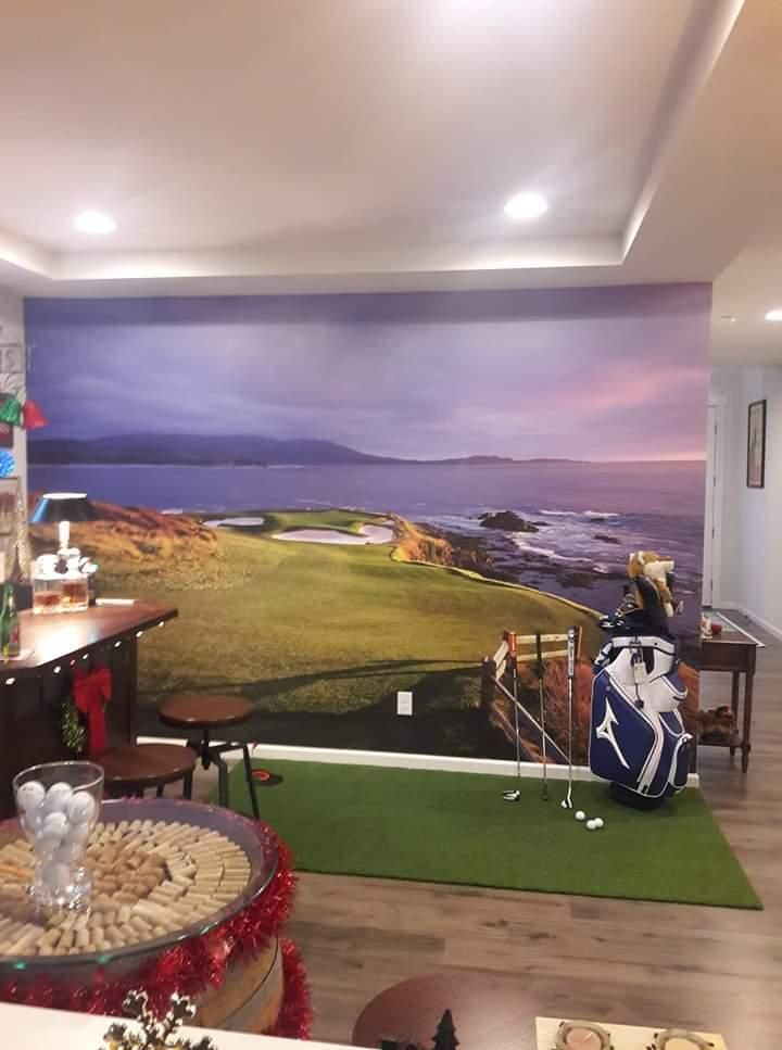 Myw Customer Scott Y Completed His Golf Themed Bar With A Pebble