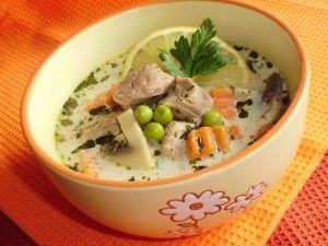 Tejszínes tárkonyos ragu leves gazdagon recept fotó