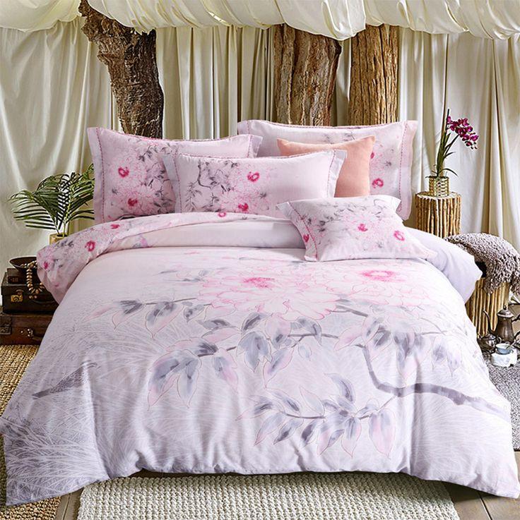 Elegant flower bedding set adult girl,full queen king european american rustic bedclothes flat sheet pillow case comforter cover
