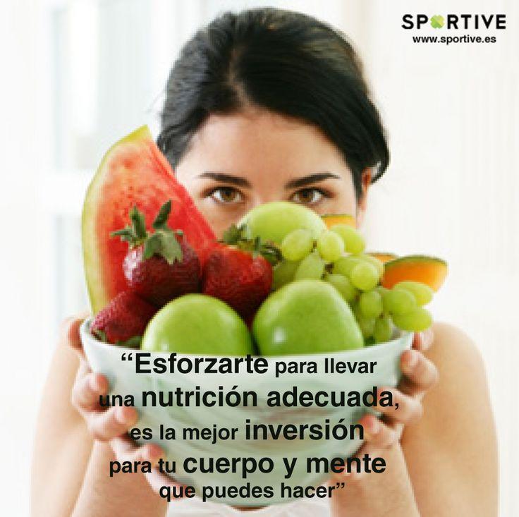 Esforzarte para llevar una #nutrición adecuada es la mejor ...