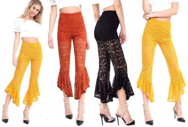 #Ladies #Asymmetric #Floral #Flared #Bell #Bottom #Pants #Frill #Hem #Lace #Cropped #Trousers #HighWaist https://www.ebay.co.uk/itm/302510043788?roken=cUgayN&soutkn=YZgXAQ via @eBay #FrillHem