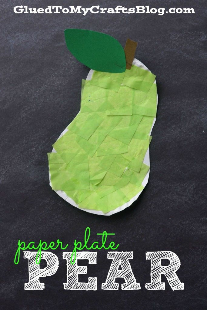 Paper Plate Pear - Kid Craft