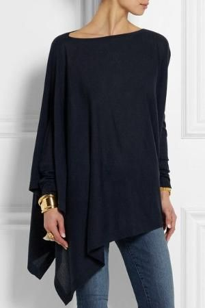 Donna Karan New York | Asymmetric cashmere sweater | NET-A-PORTER.COM by doreen.m