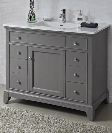 Fairmont designs 1504 v42 smithfield medium gray bathroom for Bathroom cabinet 8 inches wide