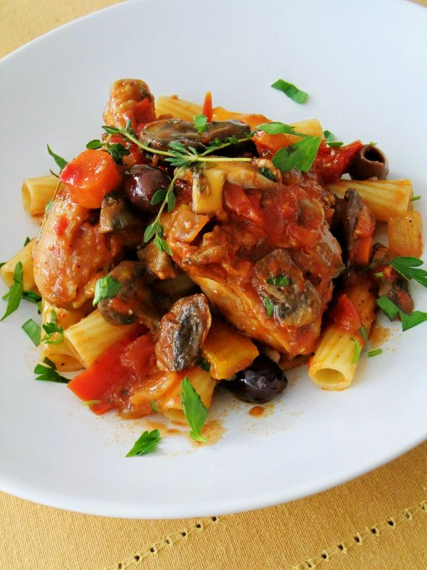 It's another frigid day here in Chicago, brutally cold weather with wind chill warnings, school closings and Artic air! You don't have to convince me to stay inside. It's definitely a comfort food kind of day, so a nice pot of slow cooked and braised Chicken Cacciatore it is!  Once the initial few steps are …