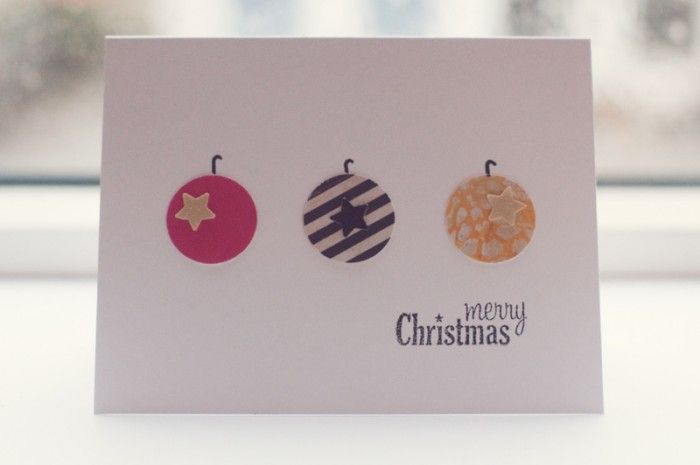 What a cute & minimalist Christmas card. DIY this.