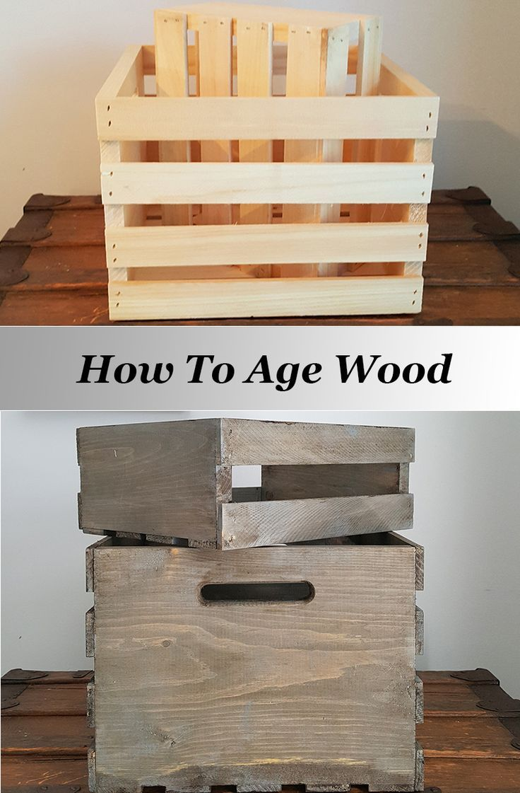 How to age wood for a rustic, weathered look